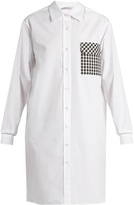 Christopher Kane Gingham-pocket cotton-poplin shirtdress