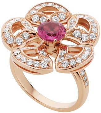 Bvlgari Rose Gold, Diamond and Pink Tourmaline Divas' Dream Ring