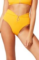 L-Space L Space Zip Front High Waist Bikini Bottoms