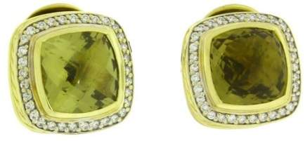 David Yurman Albion 18K Yellow Gold With 0.43ct Diamond With Lemon Citrine Earrings