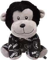 Unbranded Youth Oakland Raiders All Over Print Seated Mitchie Monkey Plush Toy