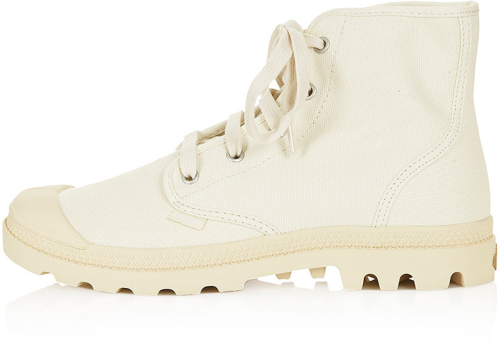 Palladium Lace Up Canvas Boots
