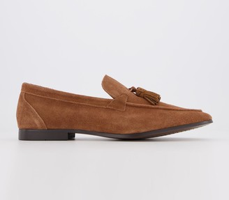 Office Clive Tassel Loafers Tan Suede