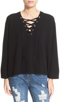 The Kooples Lace-Up Wool & Cashmere Sweater