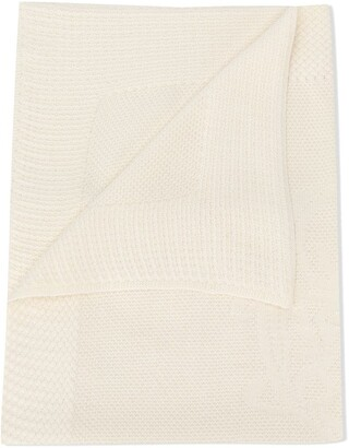 Chloé Kids Logo Embroidered Blanket