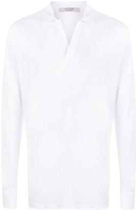 La Fileria For D'aniello Long Sleeve Button Collar Polo Shirt