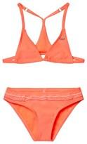 O'Neill Fluoroescent Peach Triangle Bead Bikini