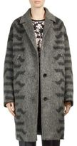 Kenzo Wool and Mohair Blend Cocoon Coat