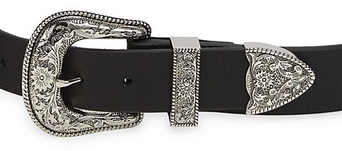 Thumbnail for your product : B-Low the Belt Bri Bri Double Buckle Leather Belt
