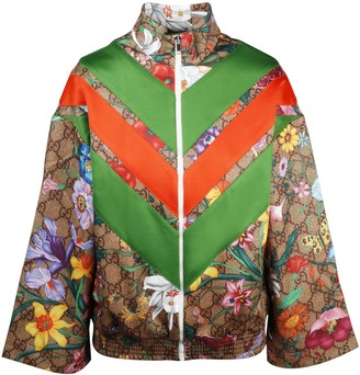 Gucci Gg Flora Print Jacket