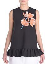 Marni Sleeveless Sequin Flower Top