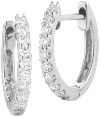 Nephora 14K 0.36 Ct. Tw. Diamond Huggie Hoops