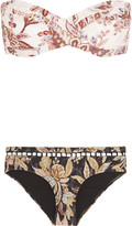 Zimmermann Good Times printed bandeau bikini
