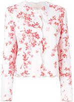 Giambattista Valli scalloped trim floral jacket - women - Silk/Cotton/Polyamide/Viscose - 48