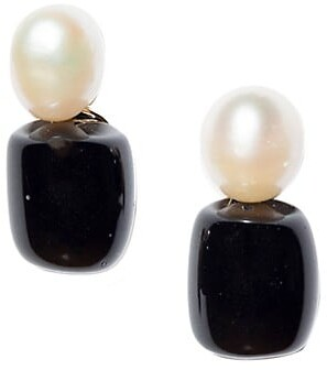 Lele Sadoughi Imitation Pearl Stud Earrings