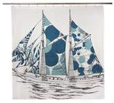 Thomas Paul Dazzle Ship Shower Curtain Peacock
