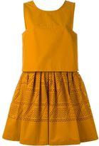 Fendi sleeveless laser-cut dress - women - Silk/Cotton - 44