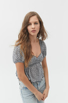 Urban Outfitters Angelo Smocked Bodice Top