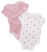 Ralph Lauren Baby Girls Newborn Printed Bodysuits 2-Pack