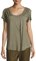 Isabel Marant Remy Ruched Short-Sleeve Tee