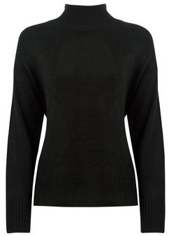 Dorothy Perkins Womens Black Spandex High Neck Jumper, Black