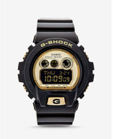 Express g-shock oversized black and gold watch