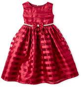 princess faith (Girls 4-6x) Stripe Organza Dress