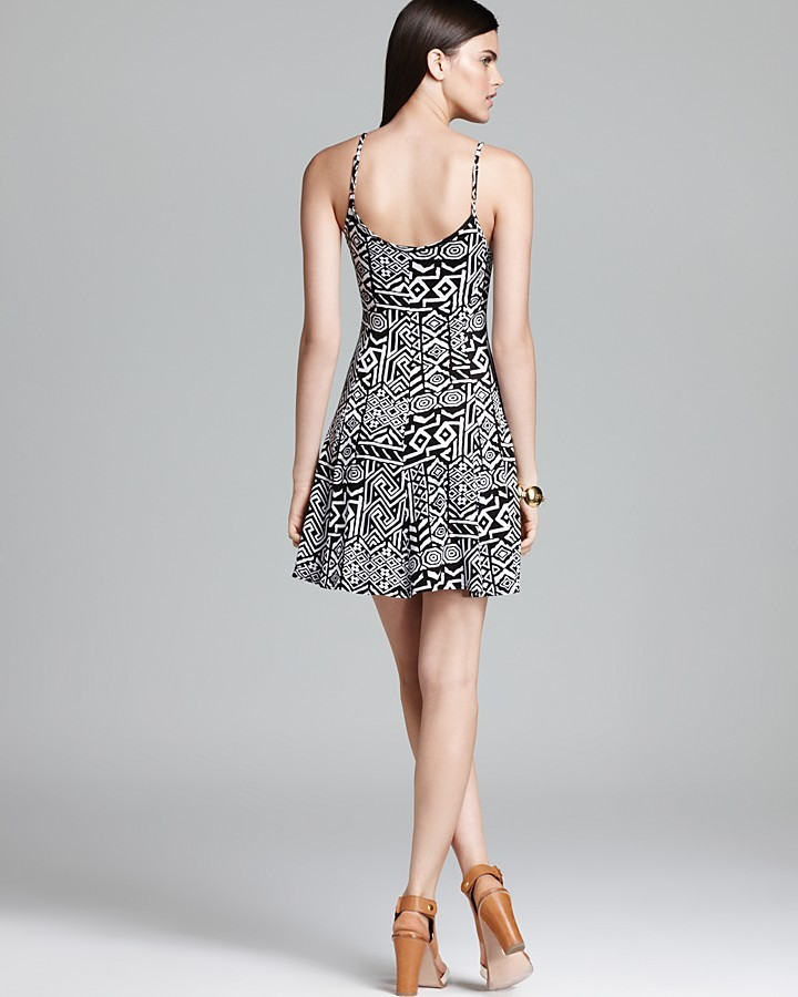Aqua Dress - Printed Cami Flare