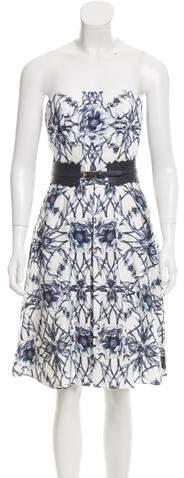 Marchesa Floral Print Faille Dress w/ Tags