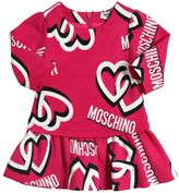 Moschino Hearts Logo Print Cotton Interlock Dress