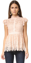 Rachel Zoe High Neck Paneled Lace Blouse