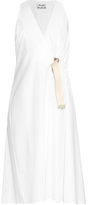 Acne Studios Chen Pop wrap cotton-poplin dress
