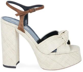Saint Laurent Bianca Knotted Platform Sandals