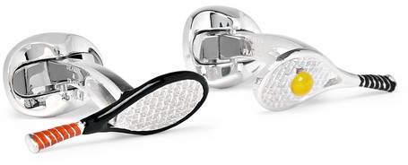 Deakin & Francis Racket and Ball Sterling Silver and Enamel Cufflinks - Men - Silver