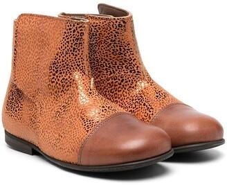 Pépé Metallic-Effect Ankle Boots