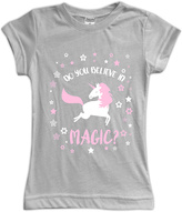 Urban Smalls Gray 'Do You Believe in Magic?' Fitted Tee - Toddler & Girls