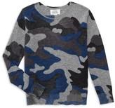 Autumn Cashmere Kid's Inked Camo Merino Wool & Cashmere Sweater
