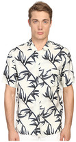 Marc Jacobs Shadow Leaf Classic Short Sleeve Button Up