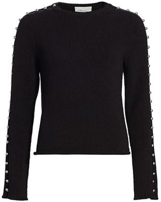 3.1 Phillip Lim Embellished-Sleeve Sweater