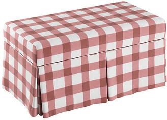 One Kings Lane Hayworth Storage Bench - Pink Gingham Linen
