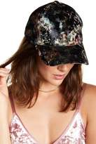 David & Young Floral Velvet Baseball Cap