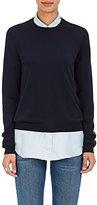 Maison Margiela Women's Cotton Elbow-Patch Sweater-NAVY