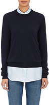 Maison Margiela Women's Cotton Elbow-Patch Sweater