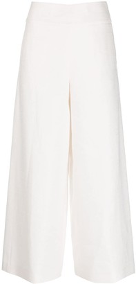 Peserico cropped wide-leg trousers