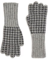 Johnstons of Elgin Houndstooth Cashmere Gloves