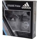adidas Mens Dynamic Pulse 100ml Aftershave 250ml Shower Gel Black