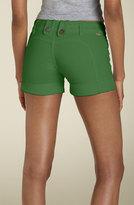 'Betty Saddleback' Stretch Denim Shorts