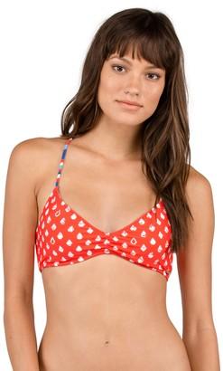 Volcom Women's Pride Americana Reversible V Neck Bikini Top