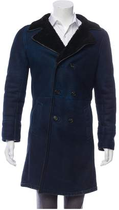 Prada Blue Shearling Coats
