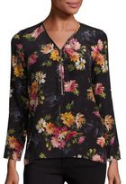 The Kooples Floral Print Silk Top